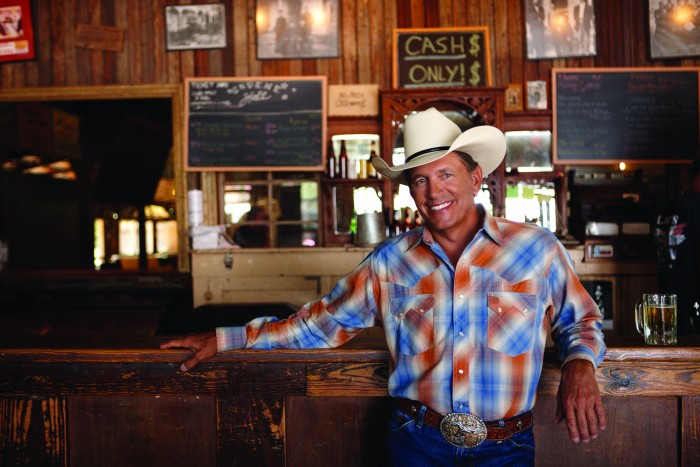 George Strait in Gruene, TX, for MCA